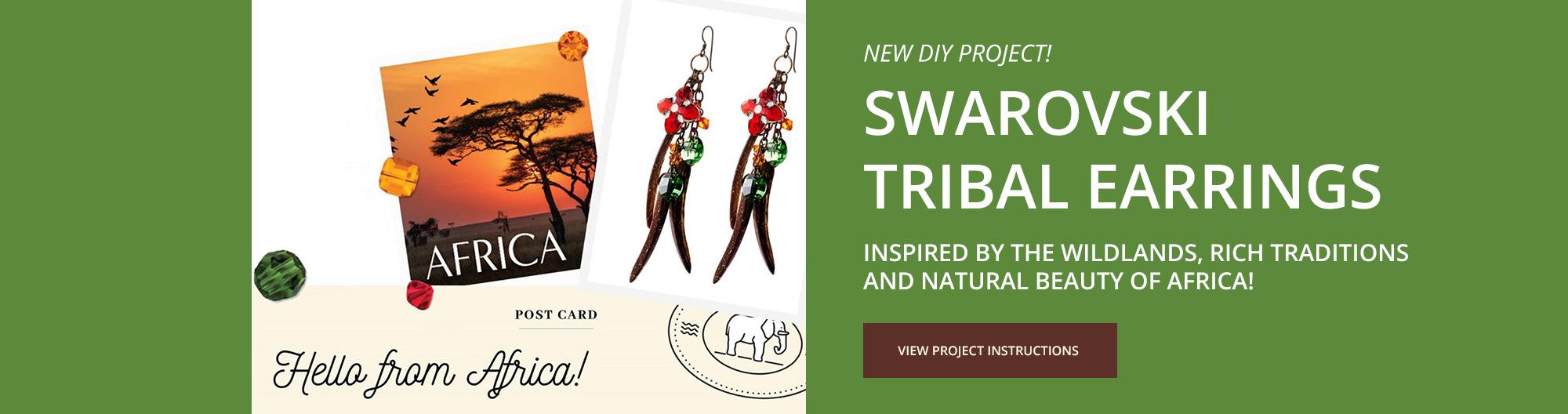 Swarovski DIY Project - Tribal Earrings