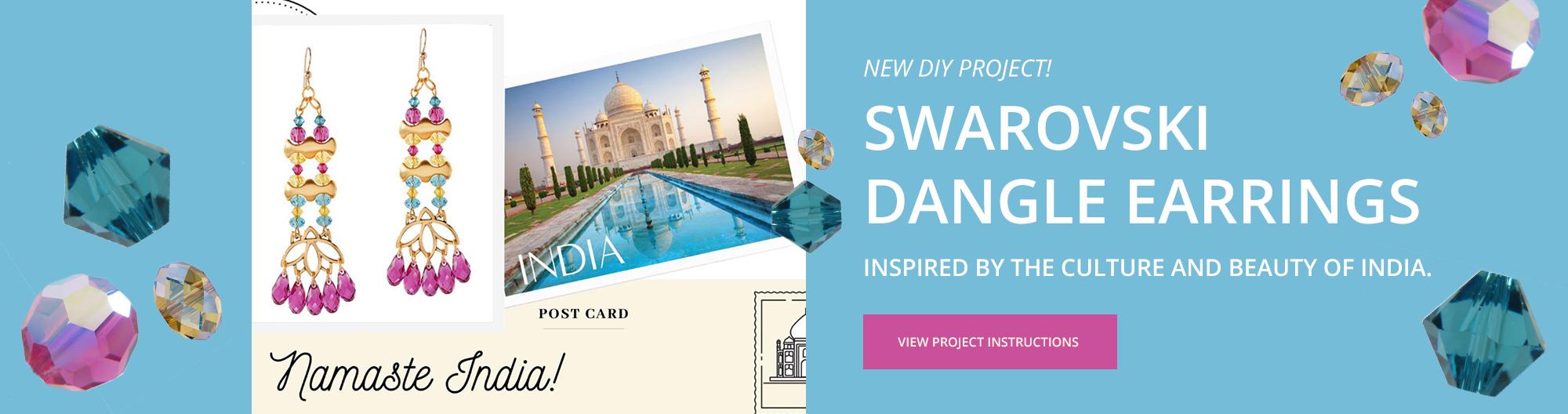 DIY Swarovski Projects - India Earrings