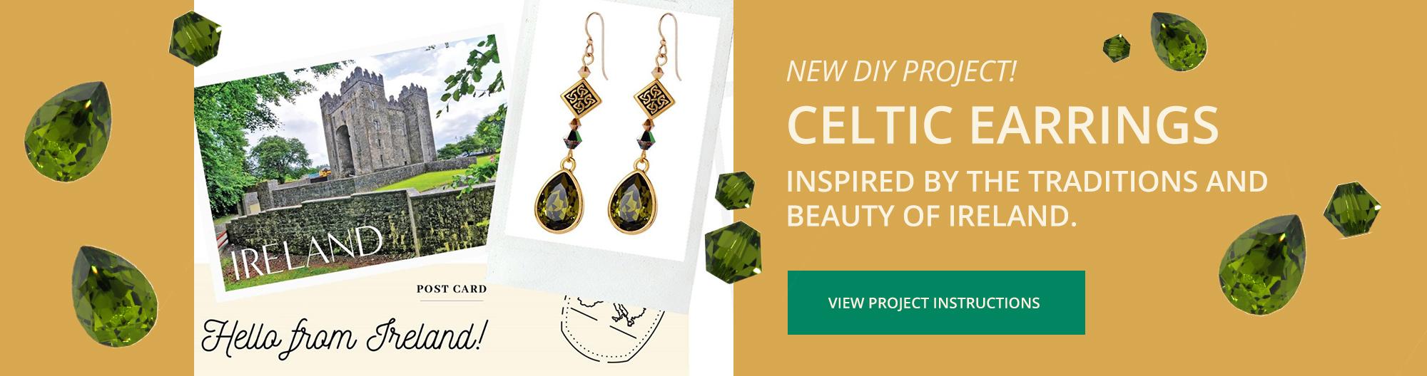 Swarovski DIY Project - Celtic Earrings