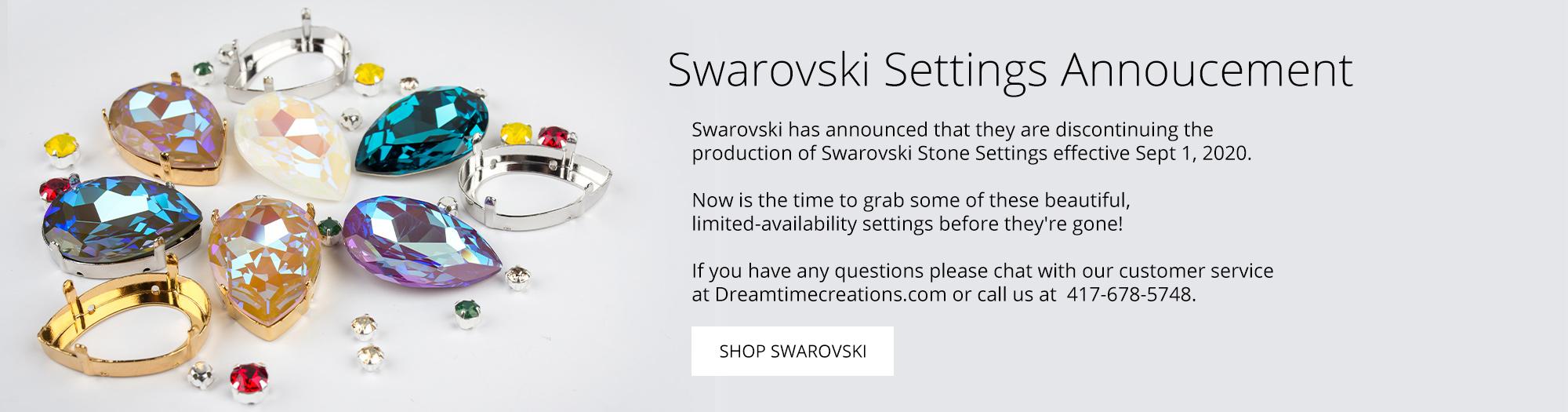 Swarovski Settings Announcement