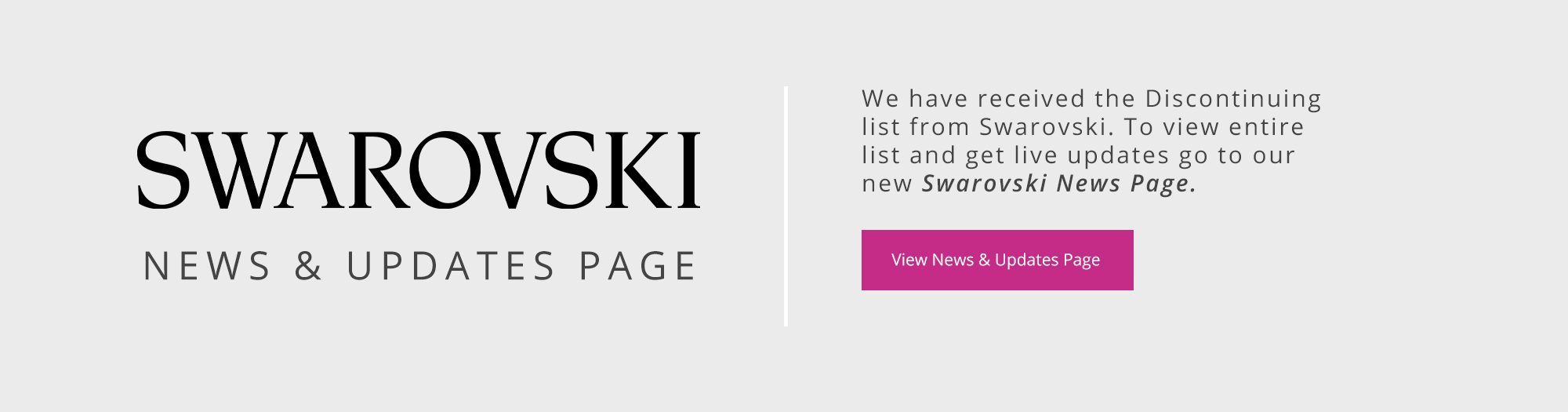 Swarovski News Page