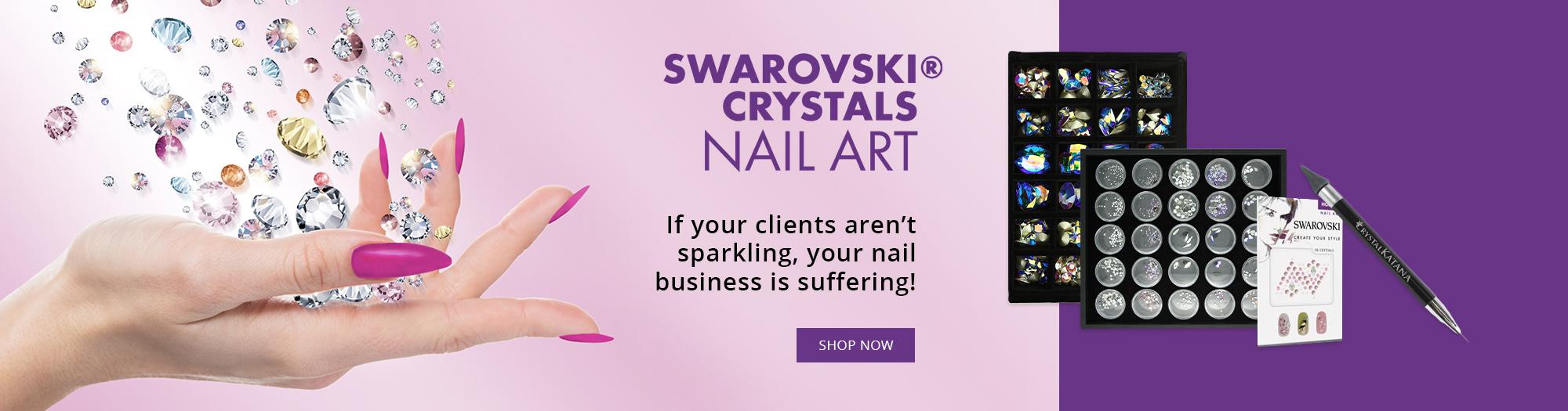 Swarovski Nail Art Banner