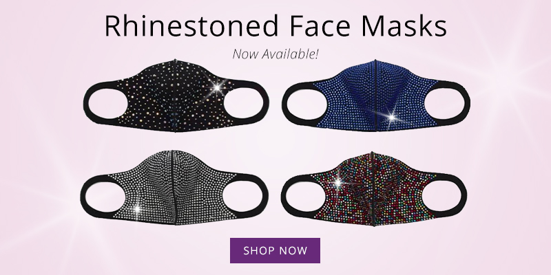 Rhinestoned Face Masks