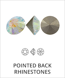 Pointed Back Rhinestones