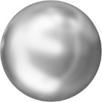 Swarovski 2081/2 Hotfix Cabochon Pearl