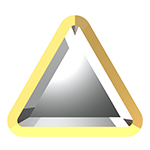 Swarovski 2711/I Rimmed Triangle Hotfix Flat Back