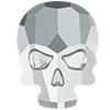 Swarovski 2856 Skull Flat Back Rhinestone