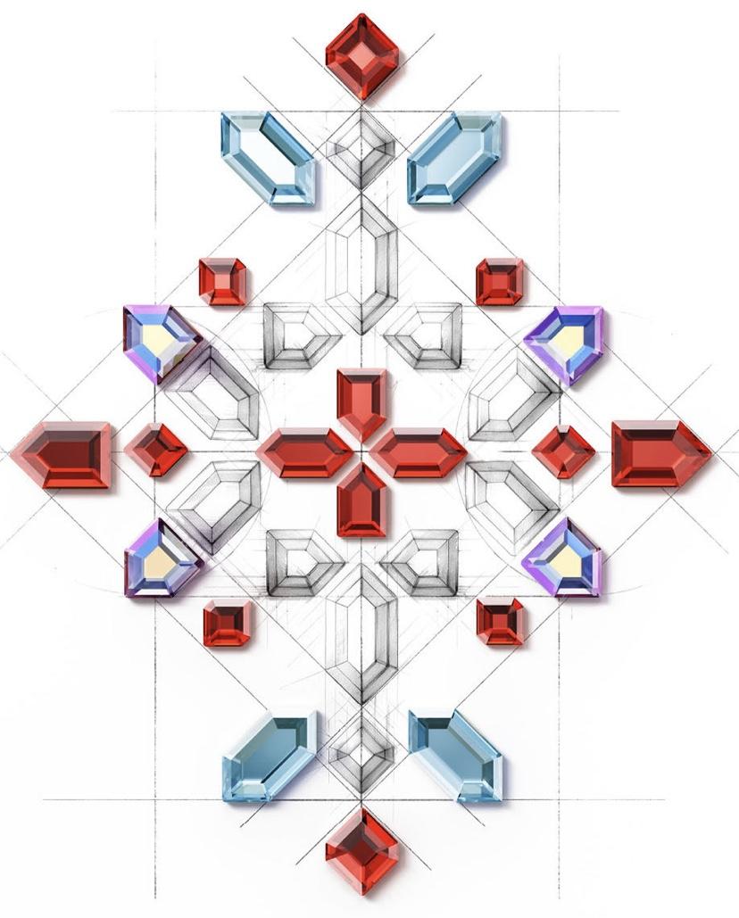 Swarovski 2774, 2776, 2776 & 2777 Geometric Flat Backs