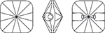 Swarovski - 3009 Square Rivoli Crystal Buttons