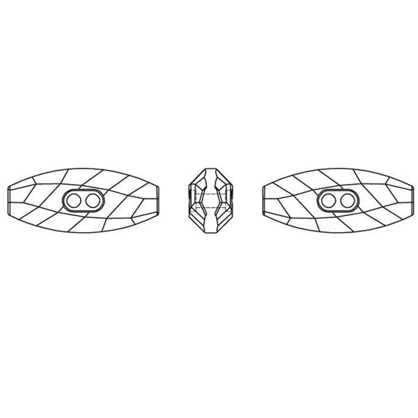 Swarovski 3024 Dufflecoat Crystal Button