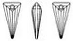 Swarovski 6480 Spike Pendant