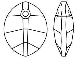 Swarovski-6734 Pure Leaf Pendant