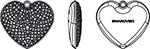 Swarovski 167412 Pave Heart Charm Pendant
