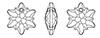Swarovski 6748 Edelweiss Pendants