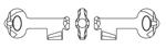 Swarovski-6919 Key Pendant