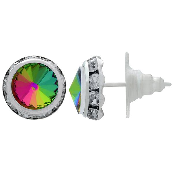 Rondelle Stud Earrings