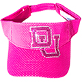Visor with Custom Rhinestone Transfer