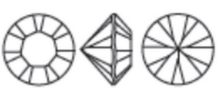 Swarovski 1028 XILION Chaton Light Rose Shimmer PP7