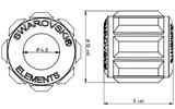 Swarovski 180301 BeCharmed Pave Beads 14mm Peridot