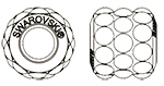 Swarovski 180601 BeCharmed Pavé Barrel 10.5mm Jet Hematite Matte Finish