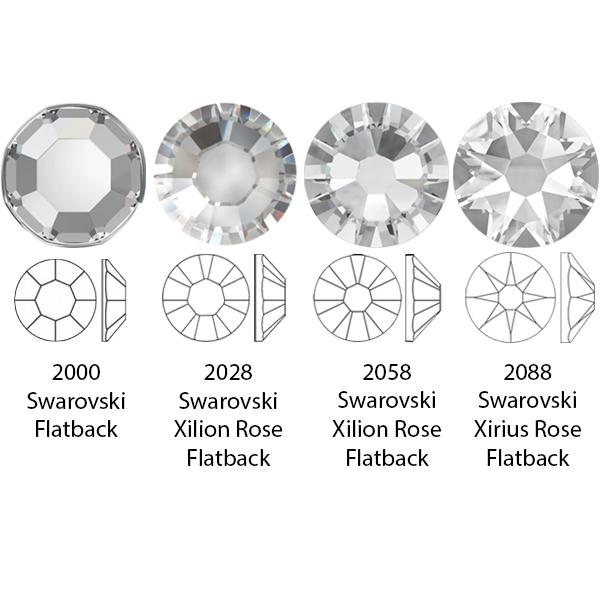 Swarovski 2088 XIRIUS Rose Flat Back Crystal SS40