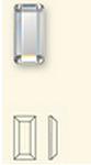 Swarovski 2510 Baguette Hotfix Crystal 3.7x1.9mm