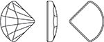 Swarovski 2714 Fan Flat Back Crystal 10mm