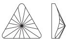 Swarovski 2716 Rivoli Triangle Flat Back Crystal 5mm