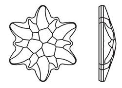 Swarovski 2753 Edelweiss Flat Back Crystal 14mm