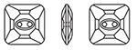Swarovski 3017 Square Button Crystal 10mm