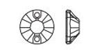 Swarovski 3204 Round Sew On Rhinestones 8mm Olivine
