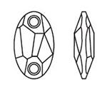 Swarovski 3231 Owlet Sew-on Crystal 28x17mm