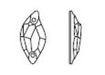 Swarovski 3254 Diamond Leaf Sew-on Crystal 30x14mm