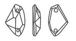 Swarovski 3256 Galactic Sew-on Crystal 19x11.5mm