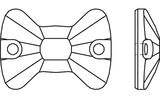 Swarovski 3258 Bow Tie Sew-on Crystal 12x8.5mm