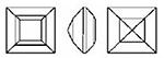 Swarovski 4410 Square Fancy Stone Amethyst 6mm
