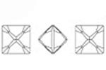 Swarovski 4418 Xilion Pointed Square Fancy Stone Crystal 6mm