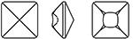 Swarovski 4481 Vision Square Fancy Stone Light Siam 16mm