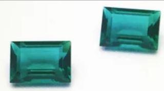 Swarovski 4510 Baguette Double Cut Fancy Emerald Unfoiled 12x10mm