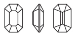 Swarovski 4600 Rectangle Octagon Fancy Stone Crystal 8x6.5mm