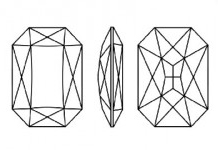Swarovski 4627 Thin Octagon Fancy Stone Crystal Paradise Shine 37 x 25.5mm