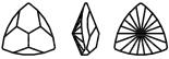 Swarovski 4799 Kaleidoscope Triangle Fancy Stone Crystal AB 20x20.4mm