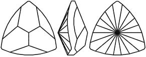 Swarovski 4799 Kaleidoscope Triangle Fancy Stone Crystal Ocean DeLite 9.2x9.4mm