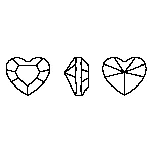 Swarovski 4883 Mini Heart Fancy Stone Crystal AB 3.6x3.1mm