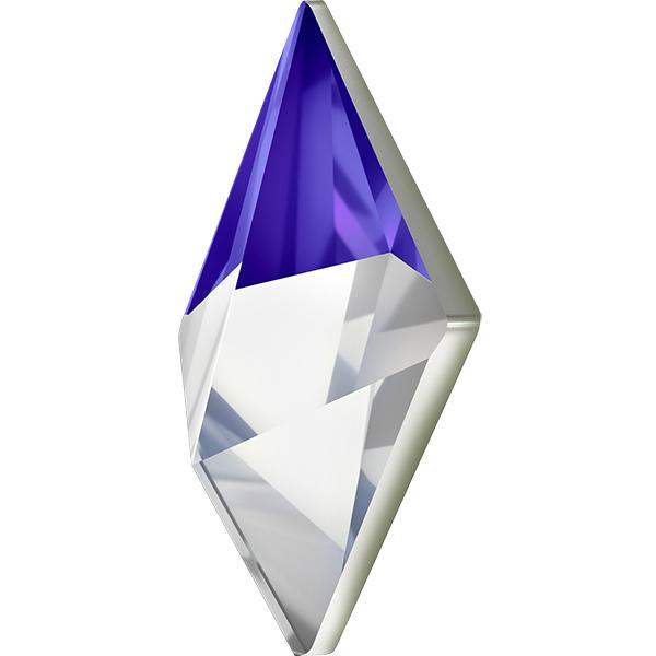 Swarovski 4929 Tilted Spike Fancy Stone Crystal Bermuda Blue 14x10.5mm