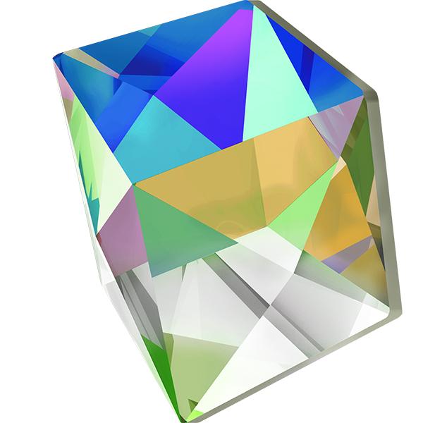 Swarovski 4933 Tilted Dice Fancy Stone 19mm Crystal Vitrail Medium