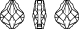Swarovski 5058 Baroque Bead Crystal 14mm