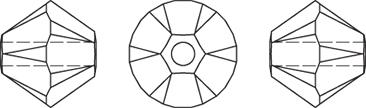 Swarovski 5328 Bicone Bead Chrysolite 4mm