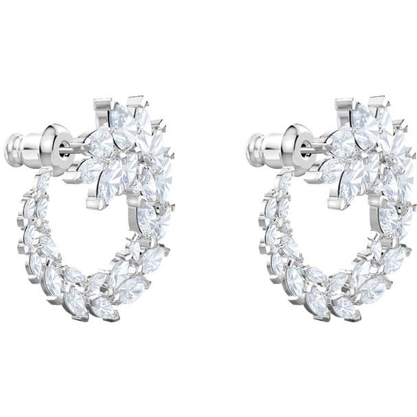fffcfe9cebe8c Swarovski Collections - Louison Hoop Pierced Earrings, White, Rhodium  Plating