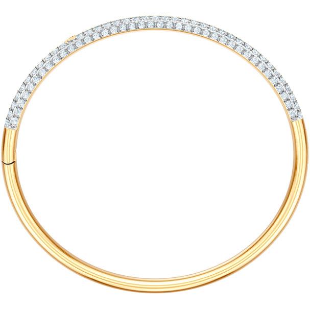 Swarovski Collection Stone Bangle White Gold plating